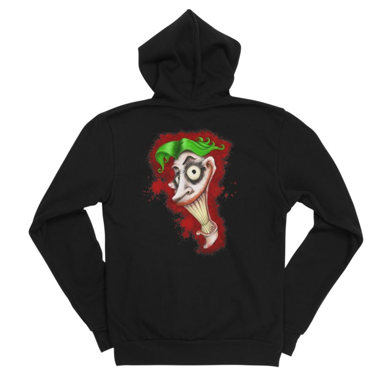 joke's on you - joker - batman Women's Sponge Fleece Zip-Up Hoody by the twisted world of godriguezart