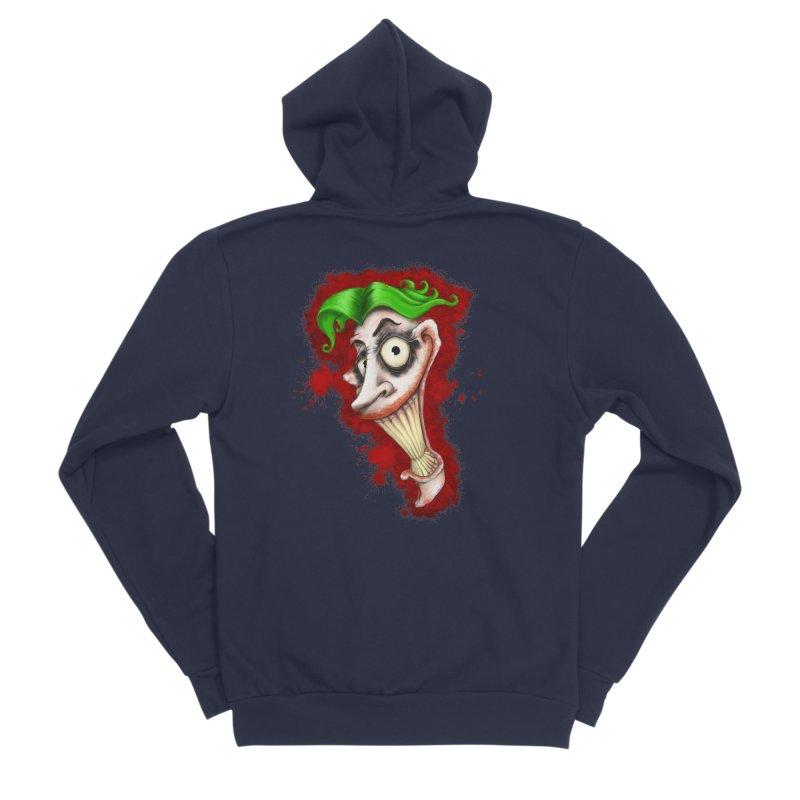 joke's on you - joker - batman Men's Sponge Fleece Zip-Up Hoody by the twisted world of godriguezart
