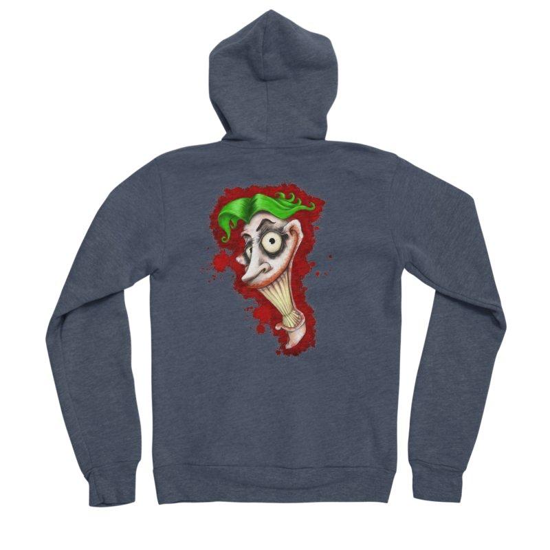 joke's on you - joker - batman Women's Sponge Fleece Zip-Up Hoody by the twisted world of godriguezart