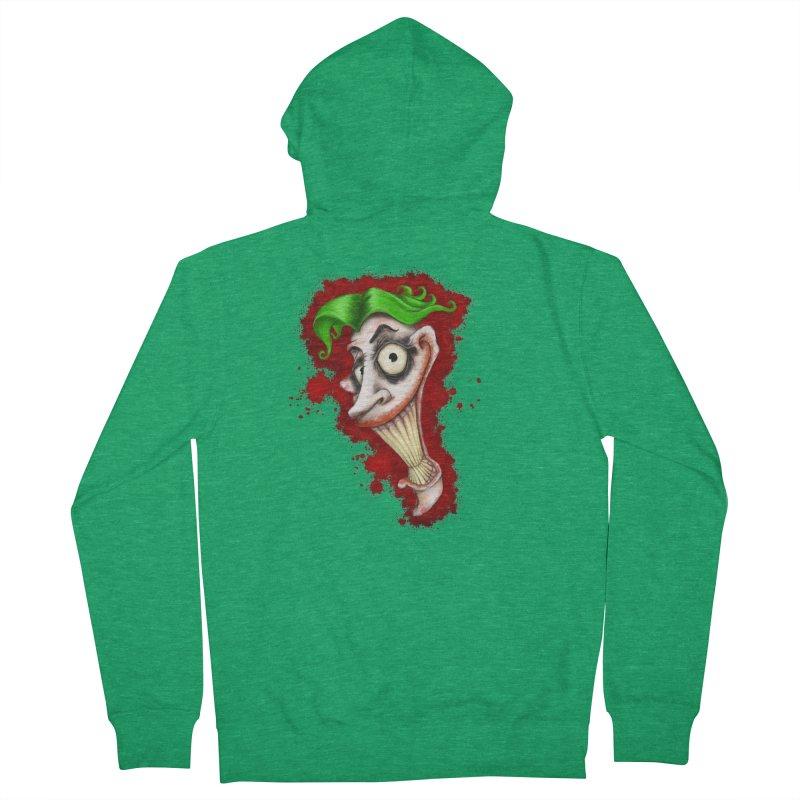 joke's on you - joker - batman Men's Zip-Up Hoody by the twisted world of godriguezart