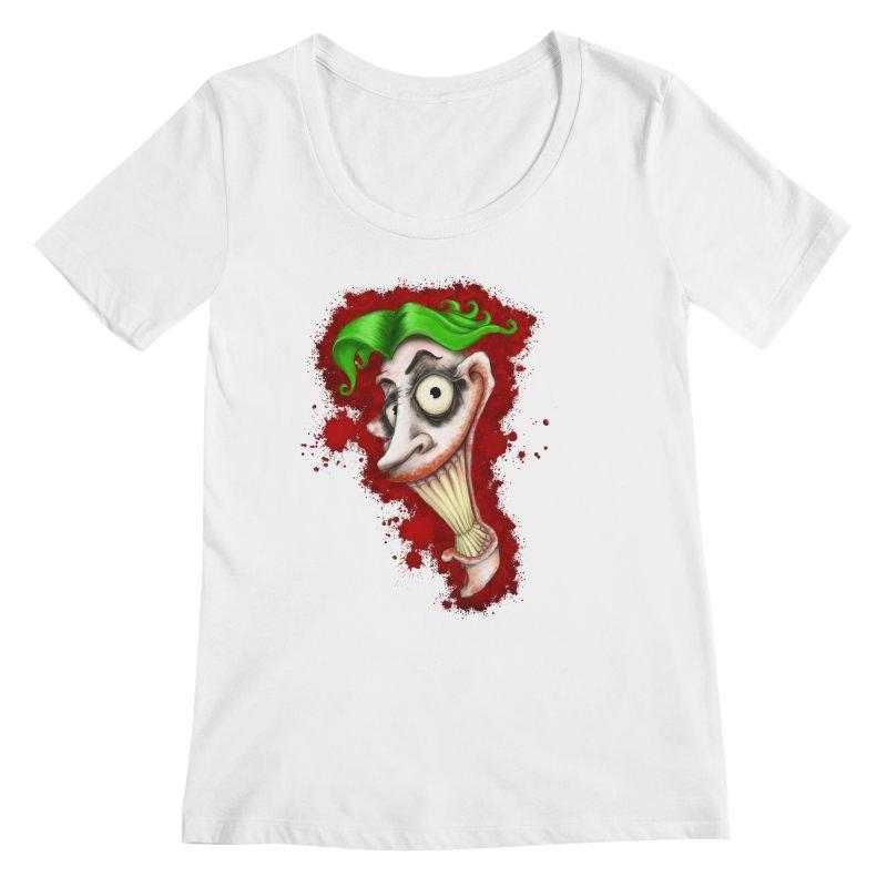 joke's on you - joker - batman Women's Regular Scoop Neck by the twisted world of godriguezart