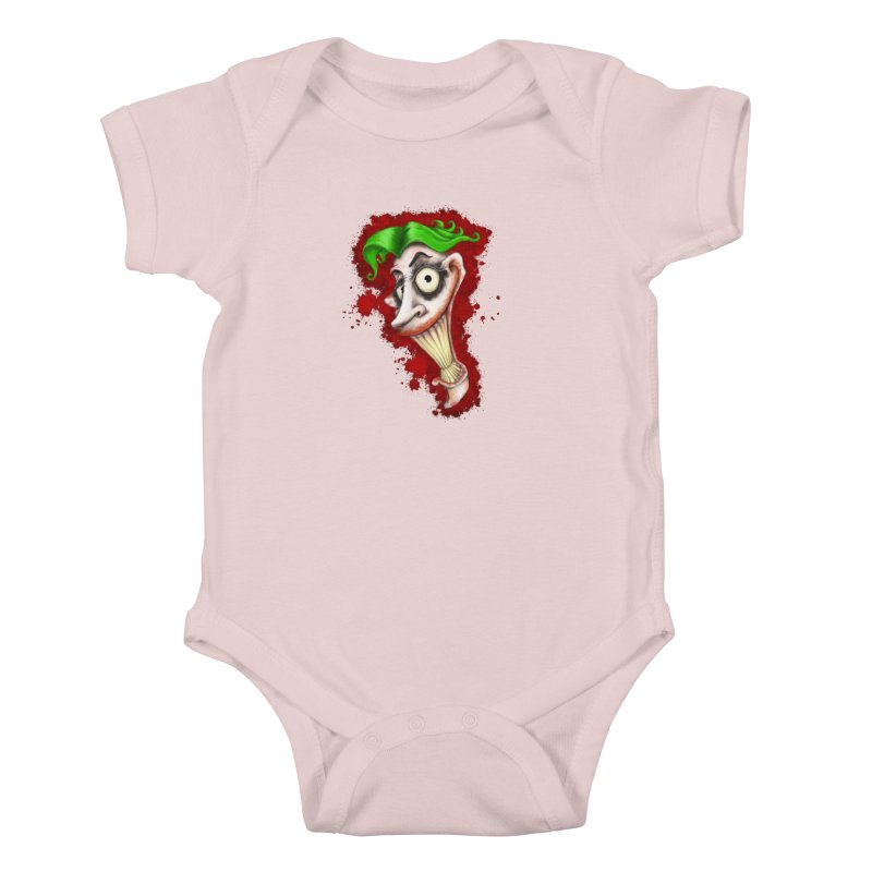 joke's on you Kids Baby Bodysuit by the twisted world of godriguezart