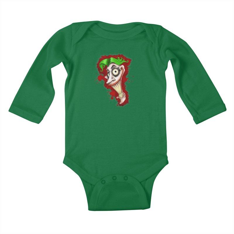 joke's on you - joker - batman Kids Baby Longsleeve Bodysuit by the twisted world of godriguezart