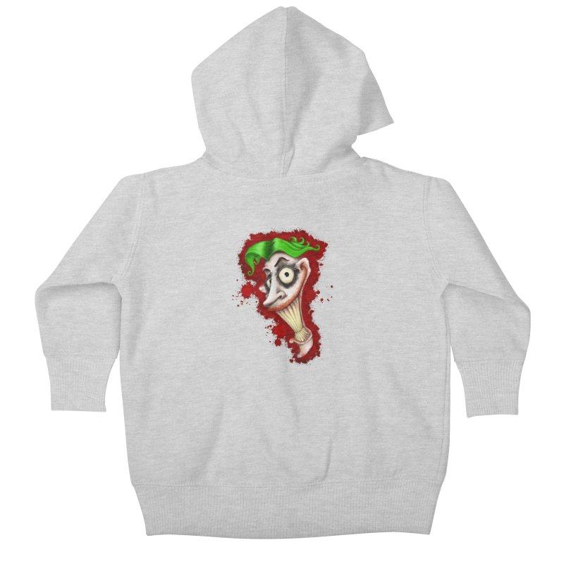 joke's on you - joker - batman Kids Baby Zip-Up Hoody by the twisted world of godriguezart