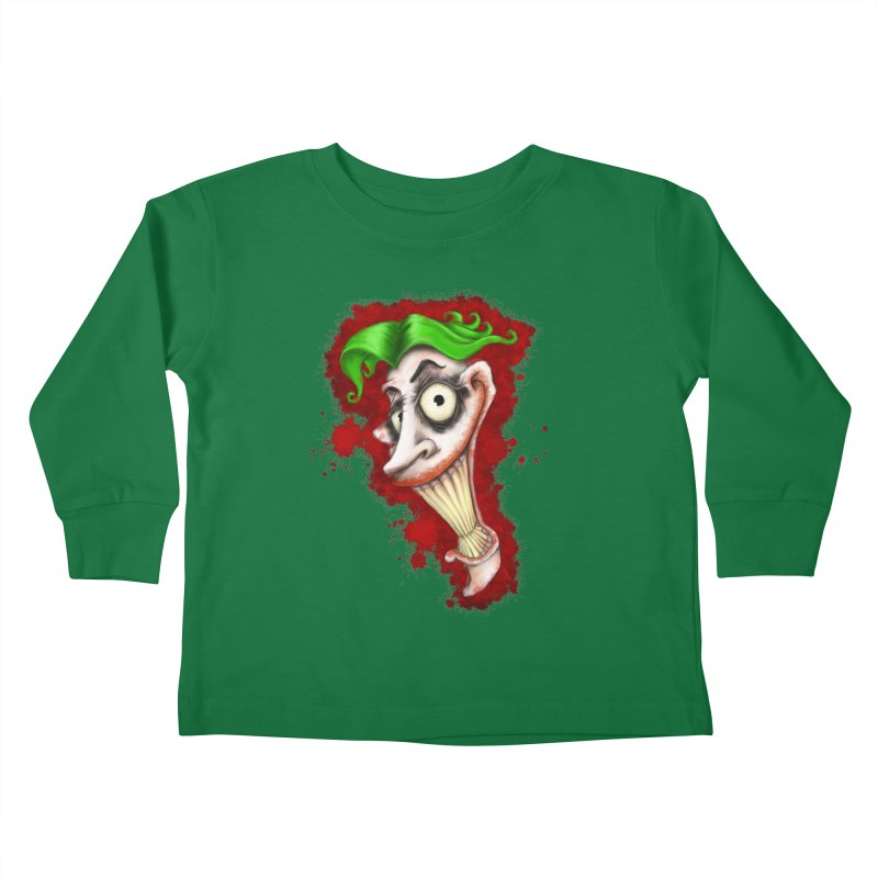 joke's on you - joker - batman Kids Toddler Longsleeve T-Shirt by the twisted world of godriguezart