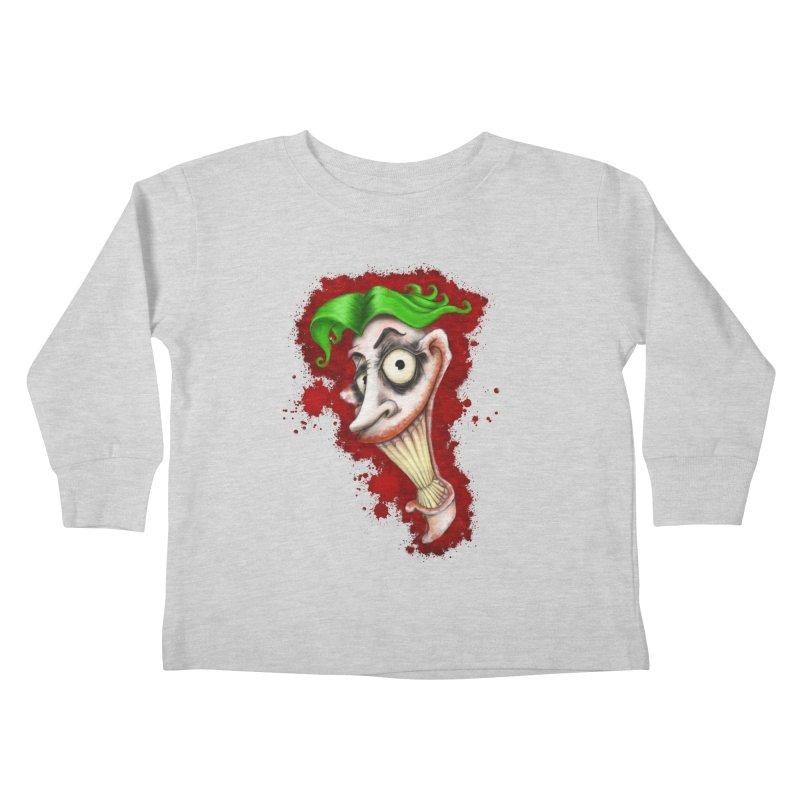 joke's on you - joker - batman Kids Toddler Longsleeve T-Shirt by the twisted world of godriguezart