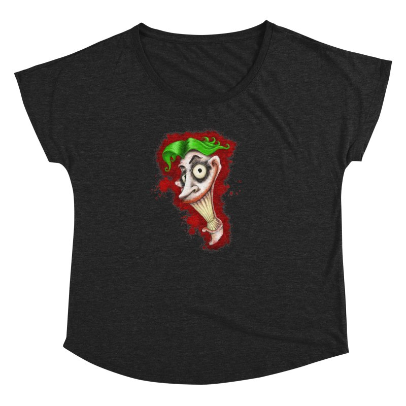 joke's on you - joker - batman Women's Dolman Scoop Neck by the twisted world of godriguezart