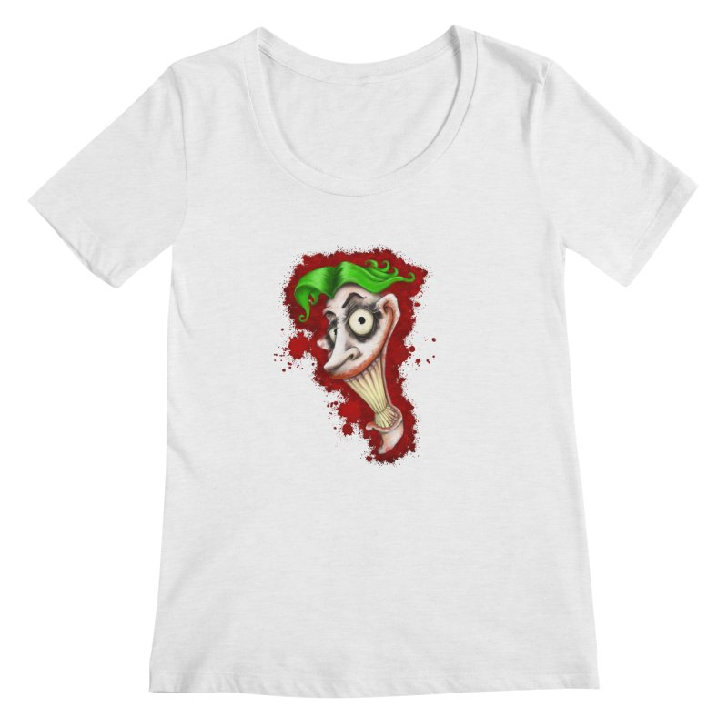 joke's on you - joker - batman Women's Regular Scoop Neck by the twisted world of godriguezart