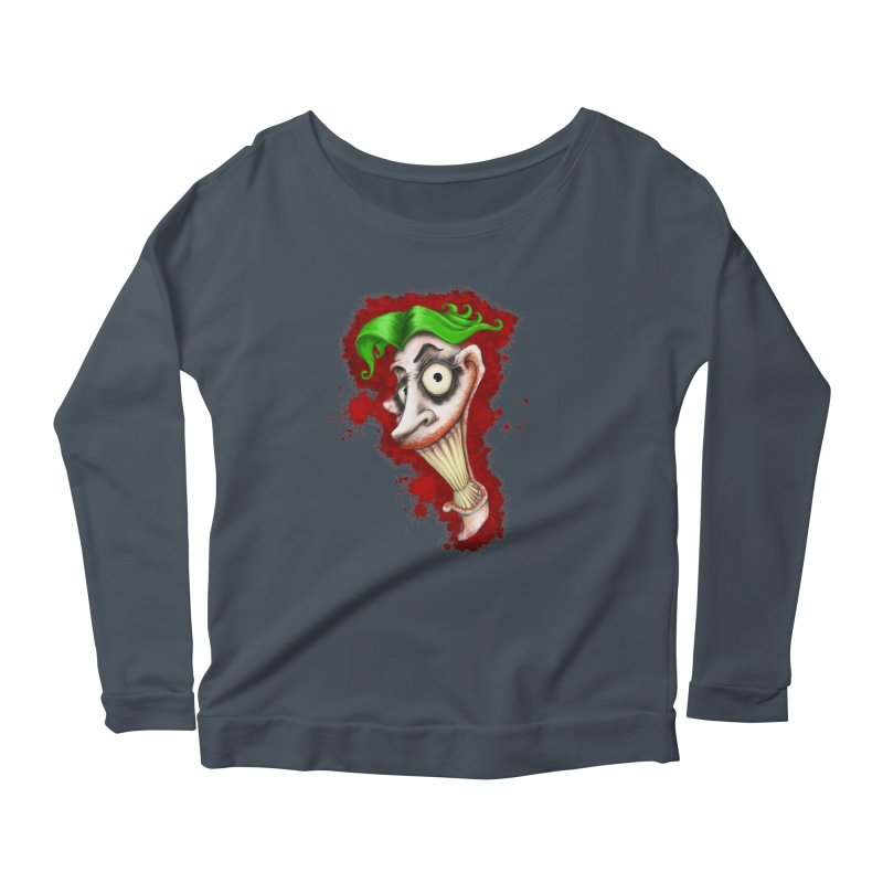 joke's on you - joker - batman Women's Scoop Neck Longsleeve T-Shirt by the twisted world of godriguezart