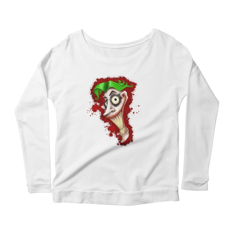 joke's on you - joker - batman Women's Scoop Neck Longsleeve T-Shirt by the twisted world of godriguezart