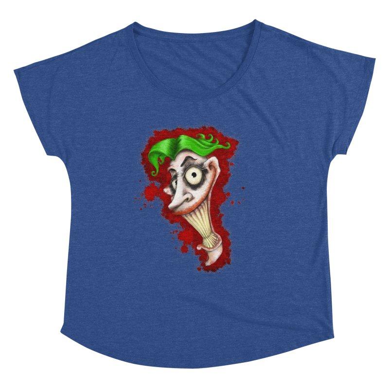 joke's on you - joker - batman Women's Scoop Neck by the twisted world of godriguezart