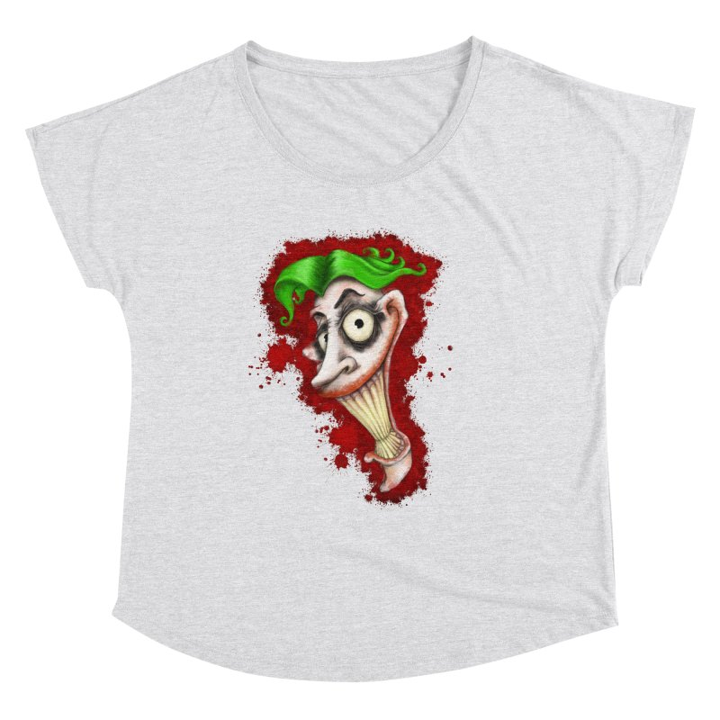 joke's on you - joker - batman Women's Scoop Neck by the twisted world of godriguezart