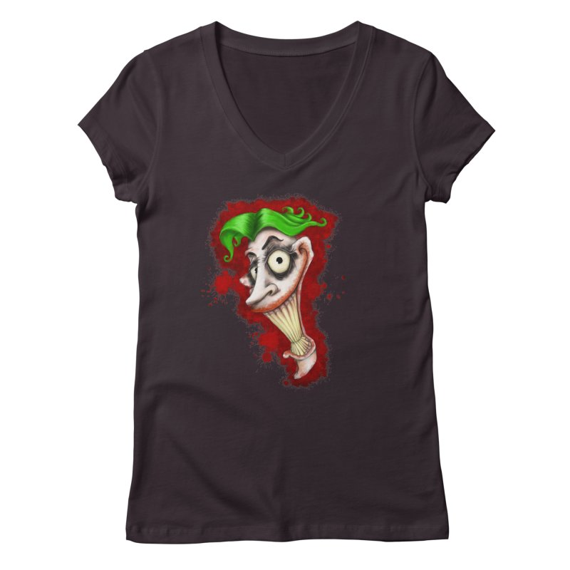 joke's on you - joker - batman Women's V-Neck by the twisted world of godriguezart