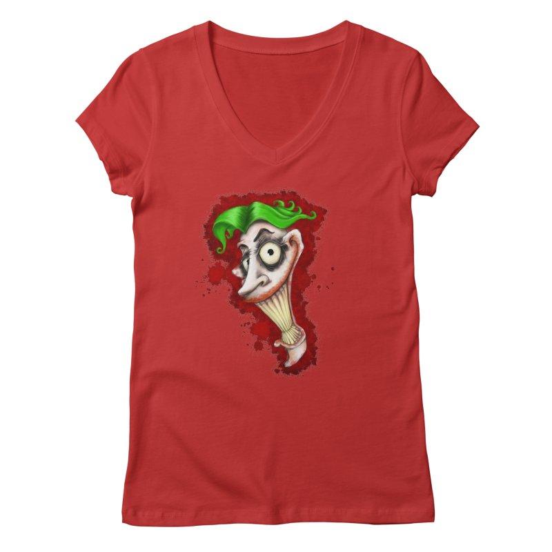 joke's on you - joker - batman Women's Regular V-Neck by the twisted world of godriguezart
