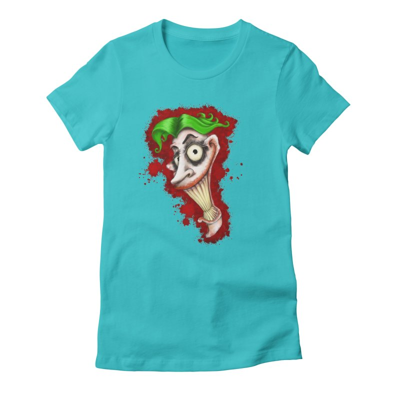 joke's on you - joker - batman Women's Fitted T-Shirt by the twisted world of godriguezart