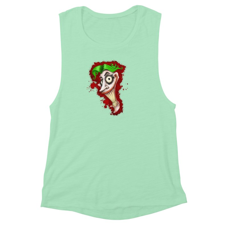 joke's on you Women's Muscle Tank by the twisted world of godriguezart