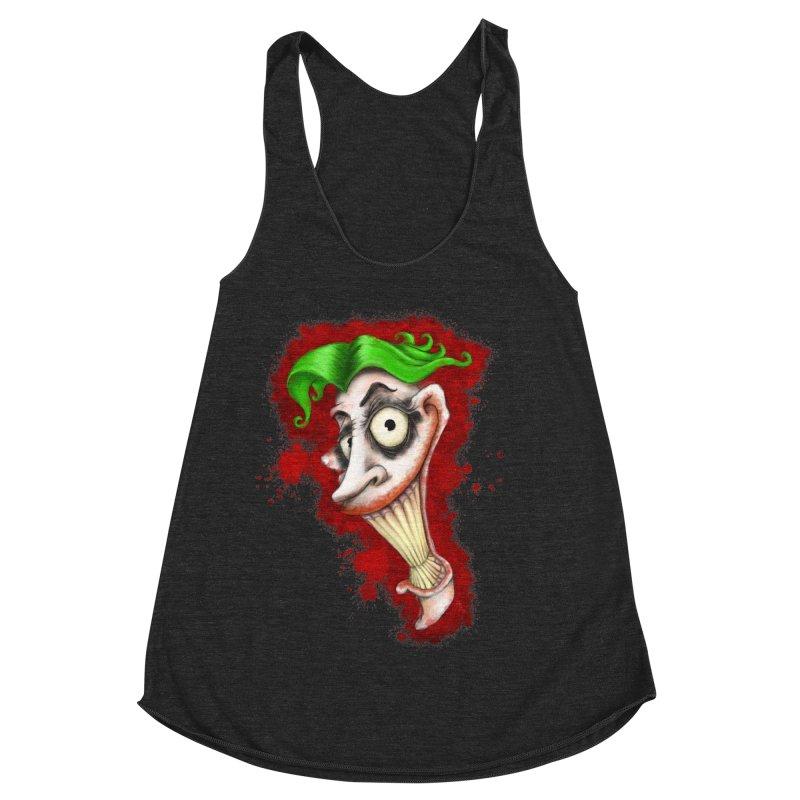 joke's on you - joker - batman Women's Racerback Triblend Tank by the twisted world of godriguezart