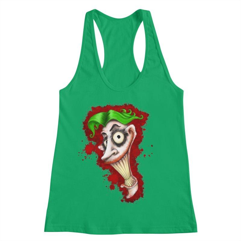 joke's on you - joker - batman Women's Racerback Tank by the twisted world of godriguezart