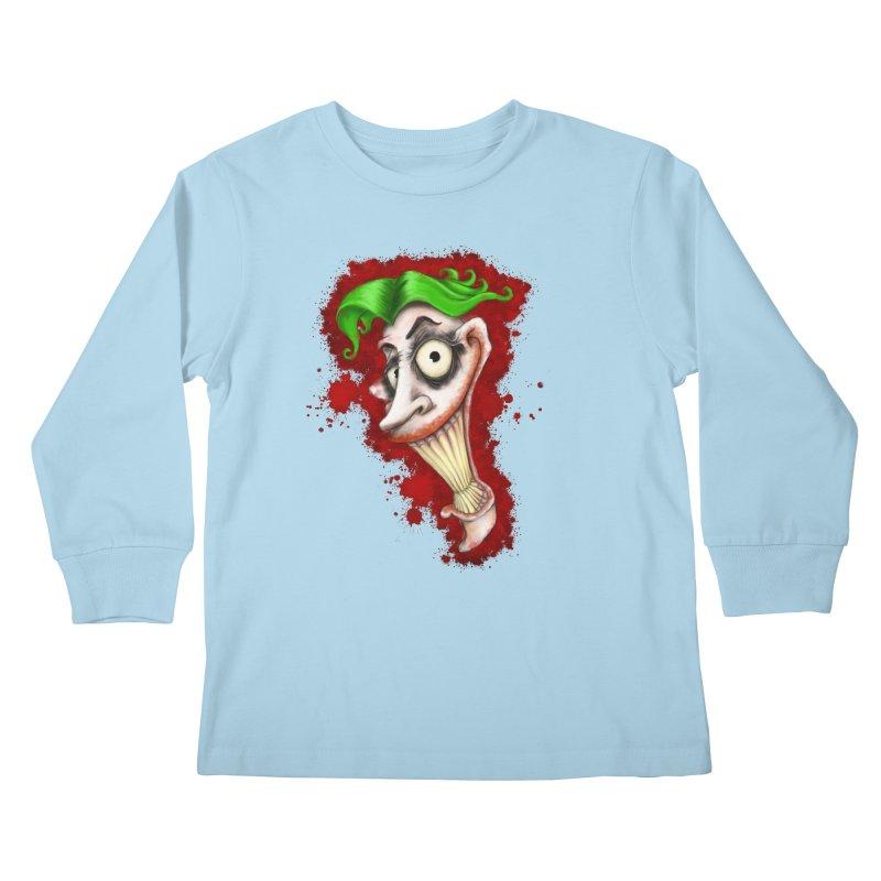 joke's on you - joker - batman Kids Longsleeve T-Shirt by the twisted world of godriguezart