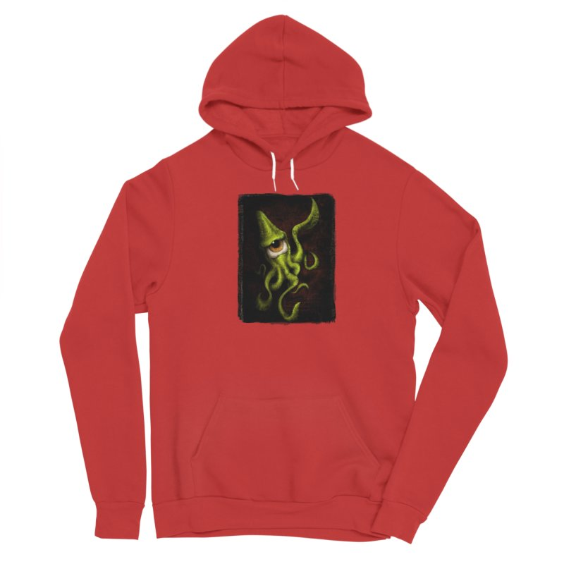 eye of cthulu Women's Sponge Fleece Pullover Hoody by the twisted world of godriguezart