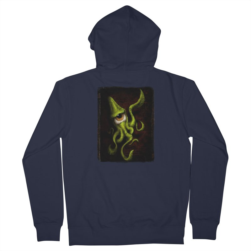 eye of cthulu Men's Zip-Up Hoody by the twisted world of godriguezart