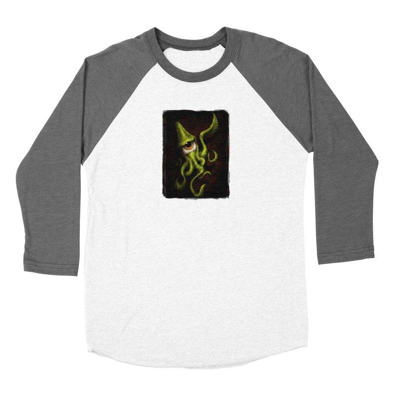 eye of cthulu Women's Baseball Triblend Longsleeve T-Shirt by the twisted world of godriguezart