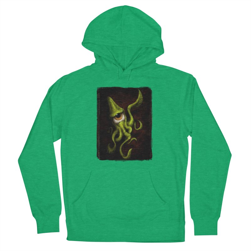 eye of cthulu Women's French Terry Pullover Hoody by the twisted world of godriguezart