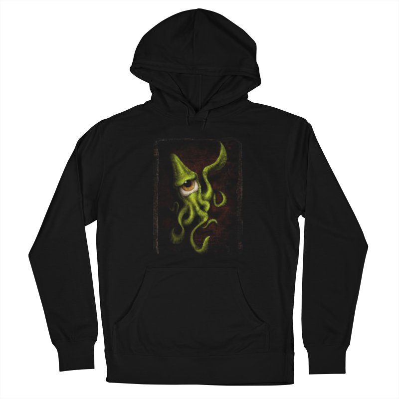 eye of cthulu Men's French Terry Pullover Hoody by the twisted world of godriguezart
