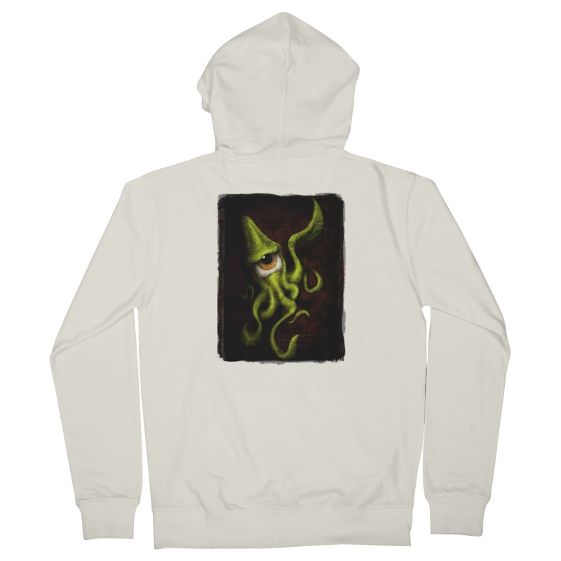 eye of cthulu Women's French Terry Zip-Up Hoody by the twisted world of godriguezart