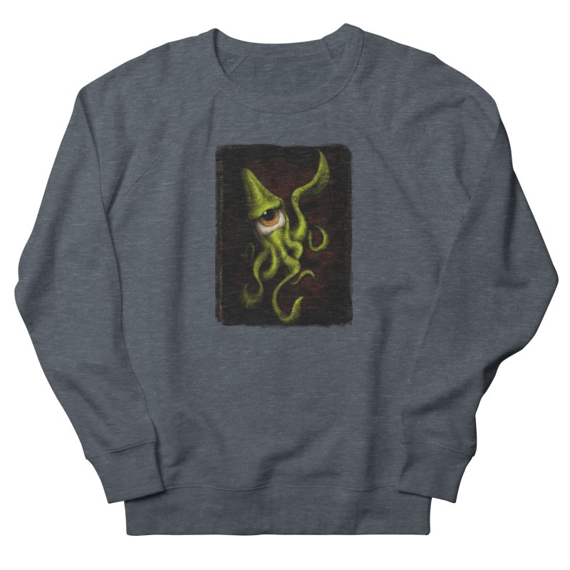 eye of cthulu Women's French Terry Sweatshirt by the twisted world of godriguezart