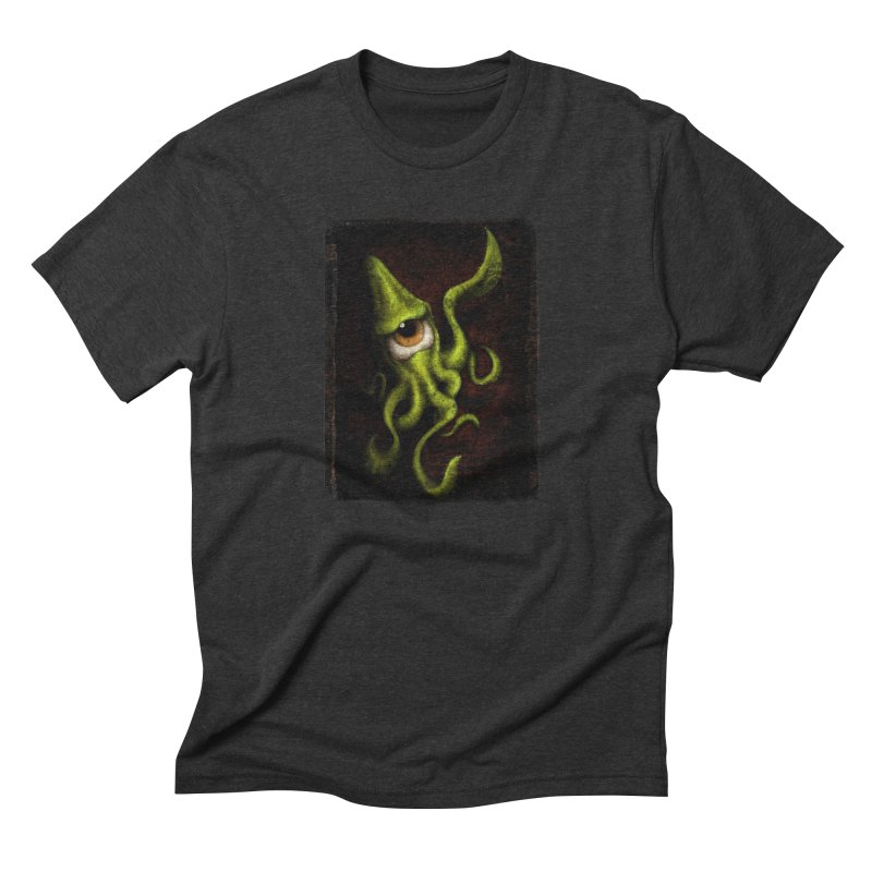 eye of cthulu Men's Triblend T-Shirt by the twisted world of godriguezart