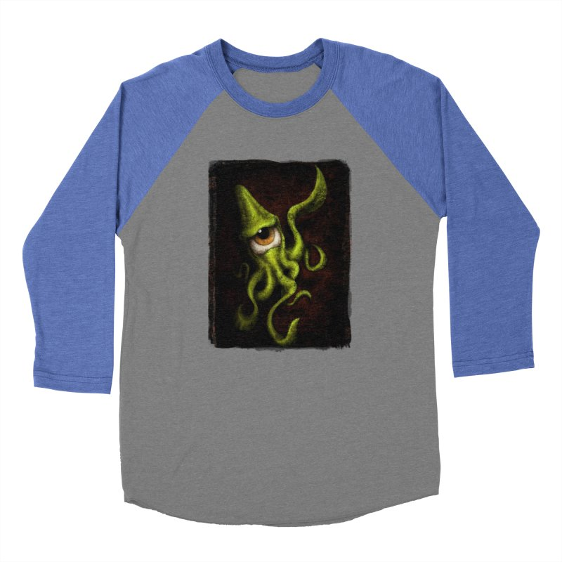 eye of cthulu Men's Baseball Triblend Longsleeve T-Shirt by the twisted world of godriguezart