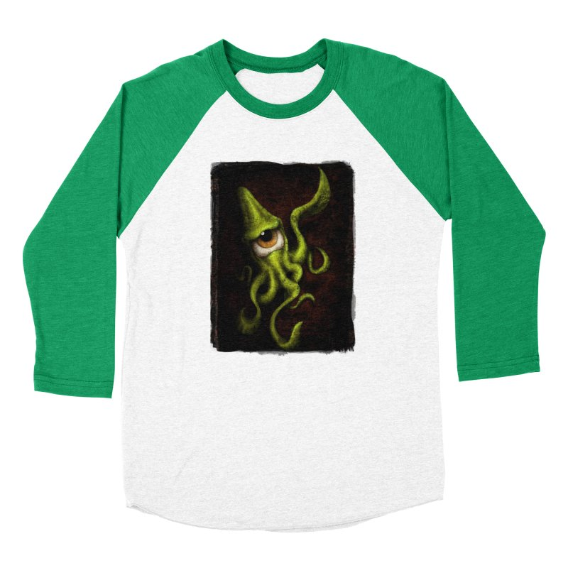 eye of cthulu Men's Baseball Triblend Longsleeve T-Shirt by the twisted world of godriguezart