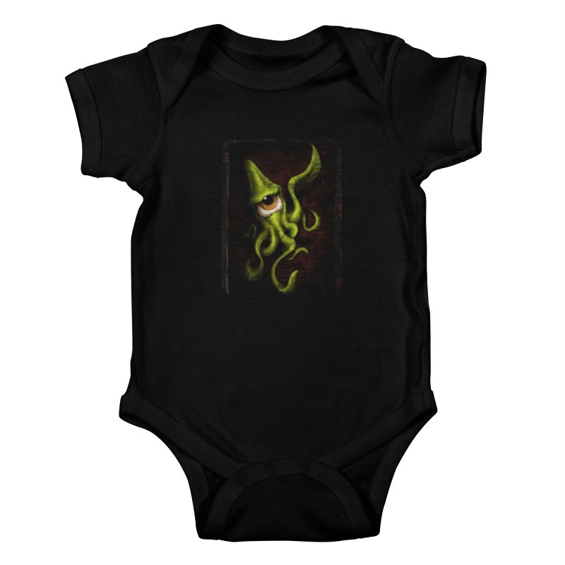 eye of cthulu Kids Baby Bodysuit by the twisted world of godriguezart