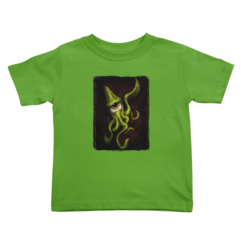 eye of cthulu Kids Toddler T-Shirt by the twisted world of godriguezart