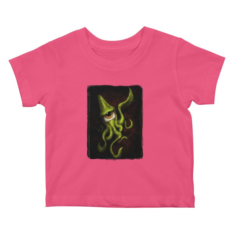 eye of cthulu Kids Baby T-Shirt by the twisted world of godriguezart