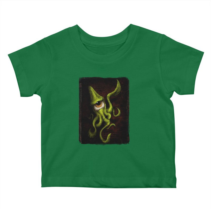 eye of cthulu Kids Baby T-Shirt by the twisted world of godriguezart
