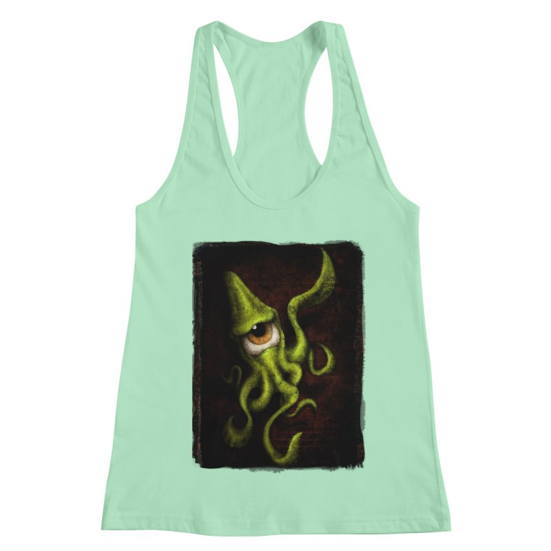 eye of cthulu Women's Racerback Tank by the twisted world of godriguezart
