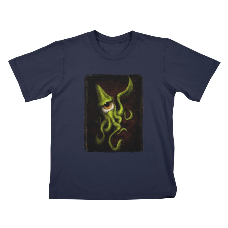 eye of cthulu Kids T-Shirt by the twisted world of godriguezart