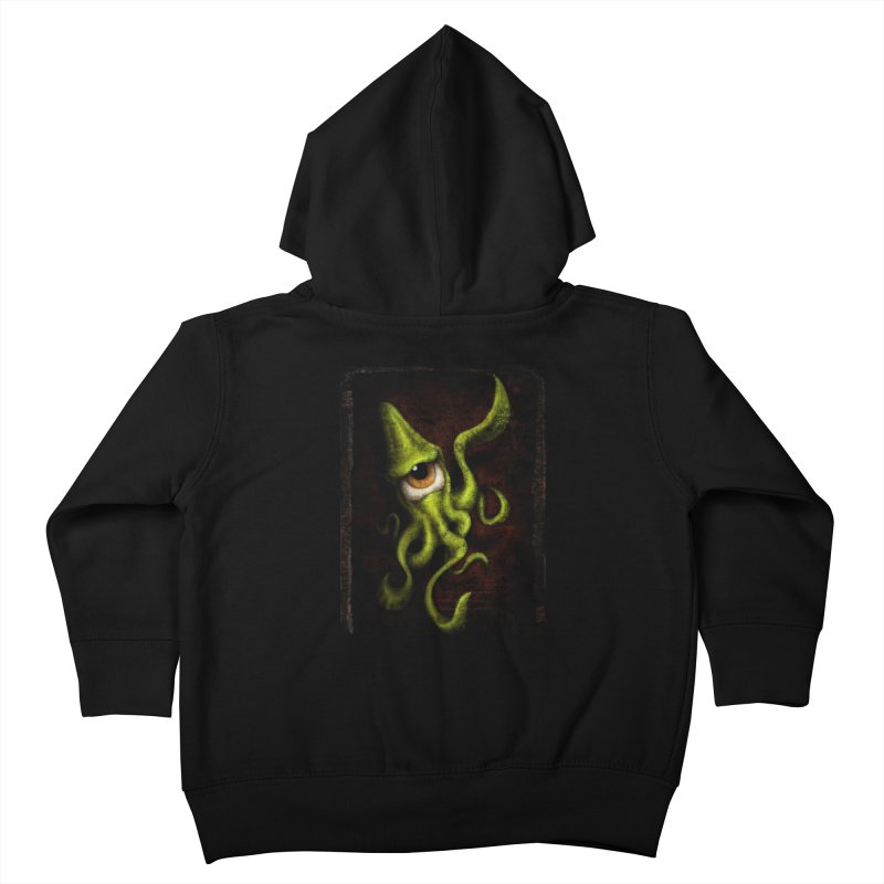eye of cthulu Kids Toddler Zip-Up Hoody by the twisted world of godriguezart