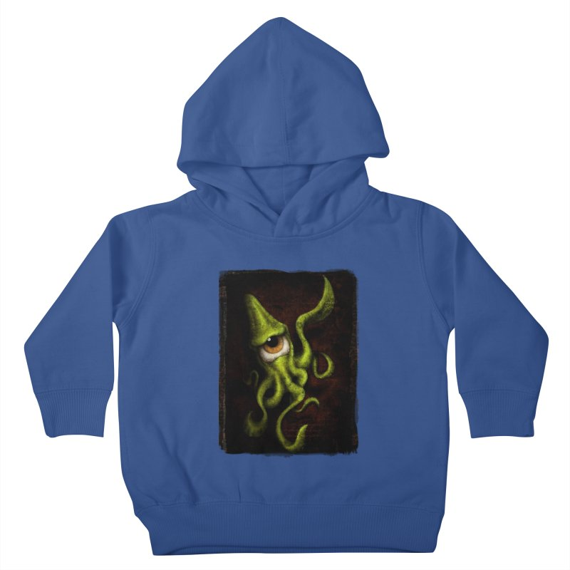 eye of cthulu Kids Toddler Pullover Hoody by the twisted world of godriguezart