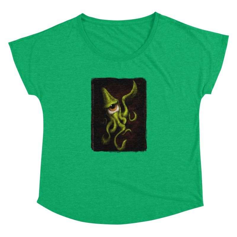 eye of cthulu Women's Dolman Scoop Neck by the twisted world of godriguezart