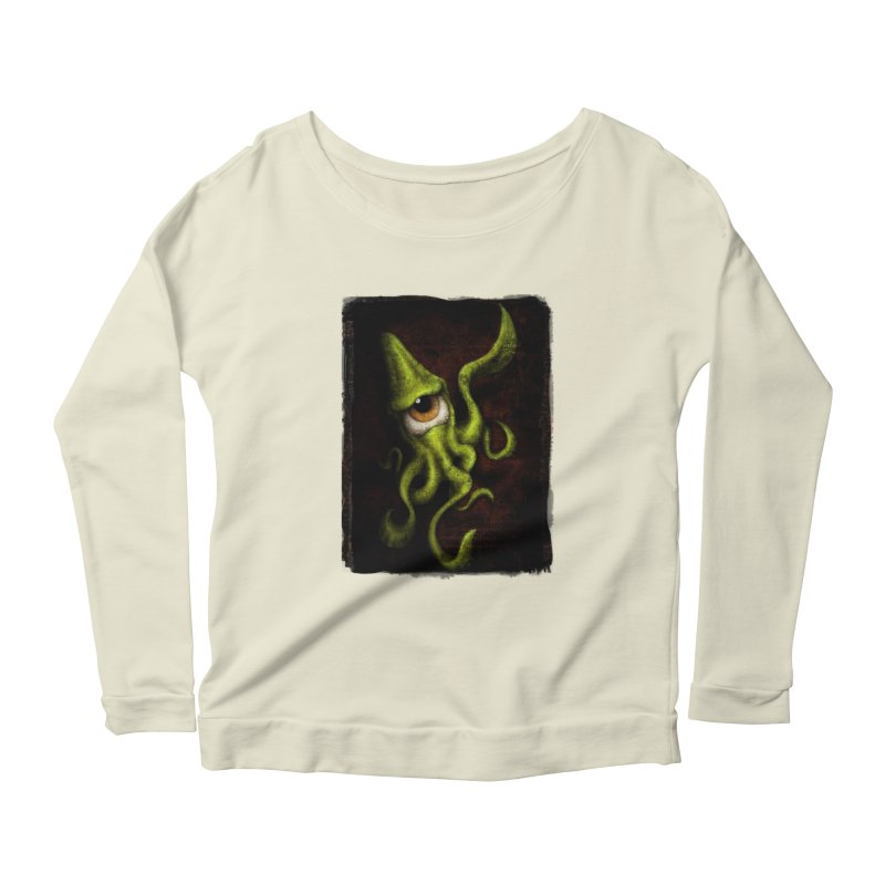 eye of cthulu Women's Scoop Neck Longsleeve T-Shirt by the twisted world of godriguezart