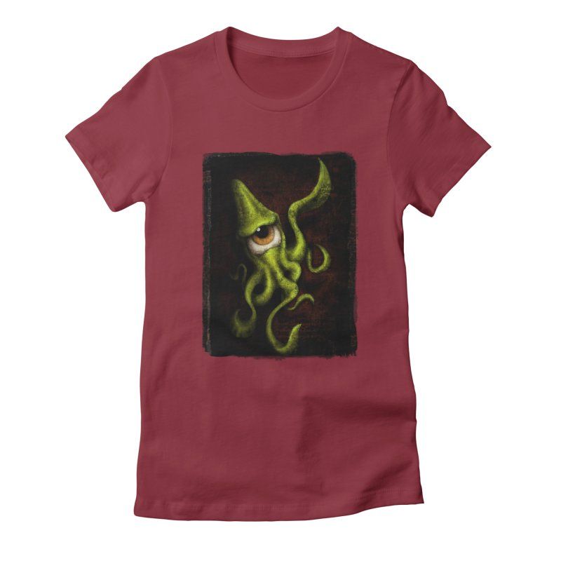 eye of cthulu Women's Fitted T-Shirt by the twisted world of godriguezart