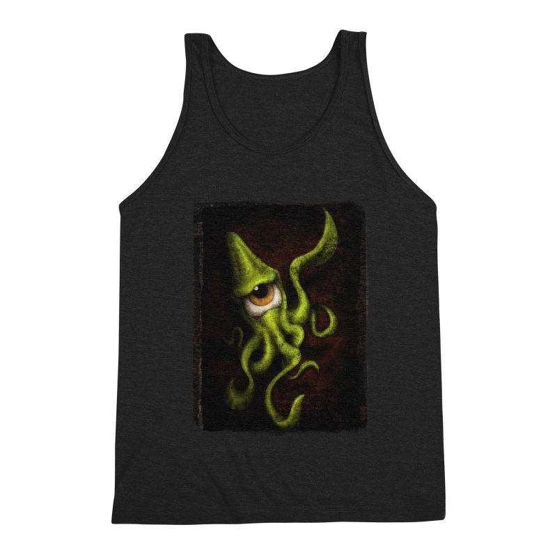 eye of cthulu Men's Triblend Tank by the twisted world of godriguezart