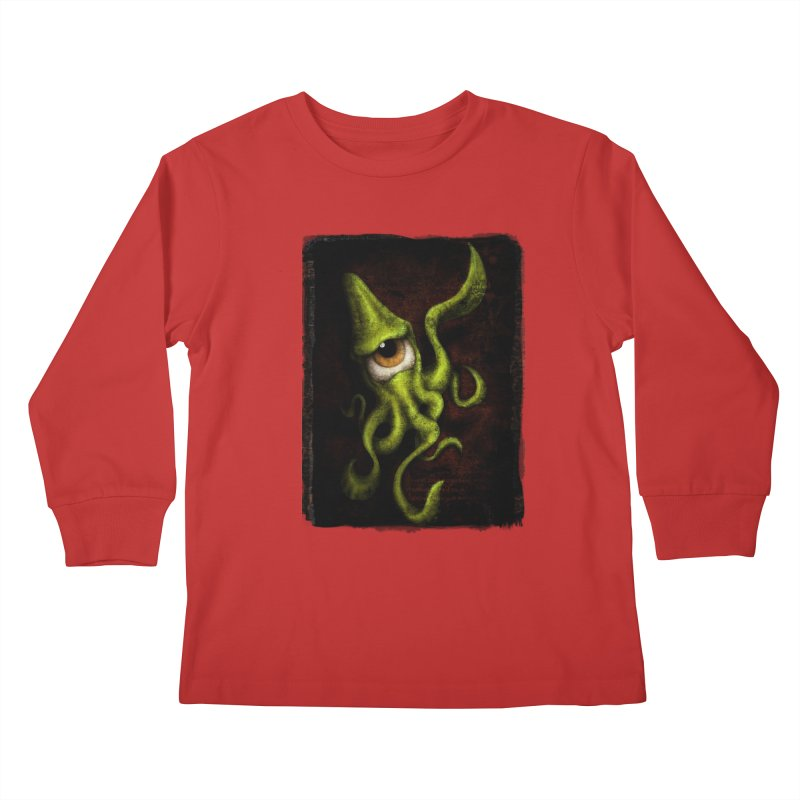 eye of cthulu Kids Longsleeve T-Shirt by the twisted world of godriguezart