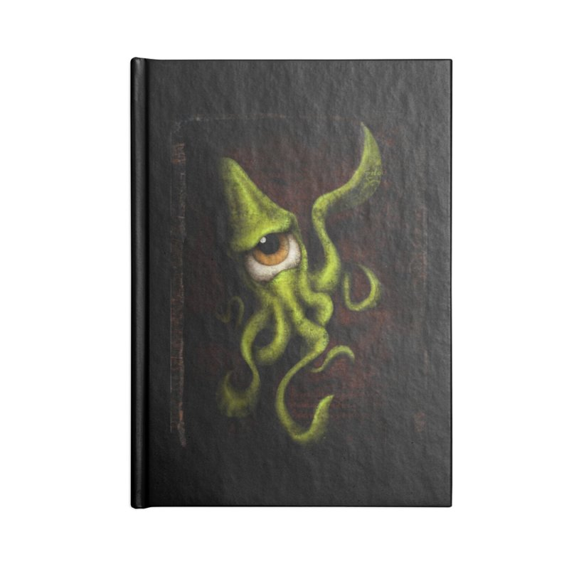 eye of cthulu Accessories Lined Journal Notebook by the twisted world of godriguezart