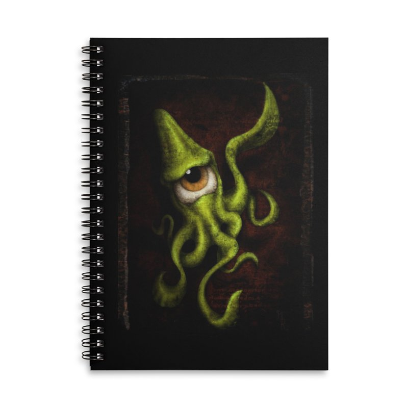 eye of cthulu Accessories Lined Spiral Notebook by the twisted world of godriguezart