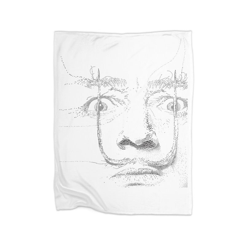 i am not mad! - salvador dali Home Fleece Blanket Blanket by the twisted world of godriguezart
