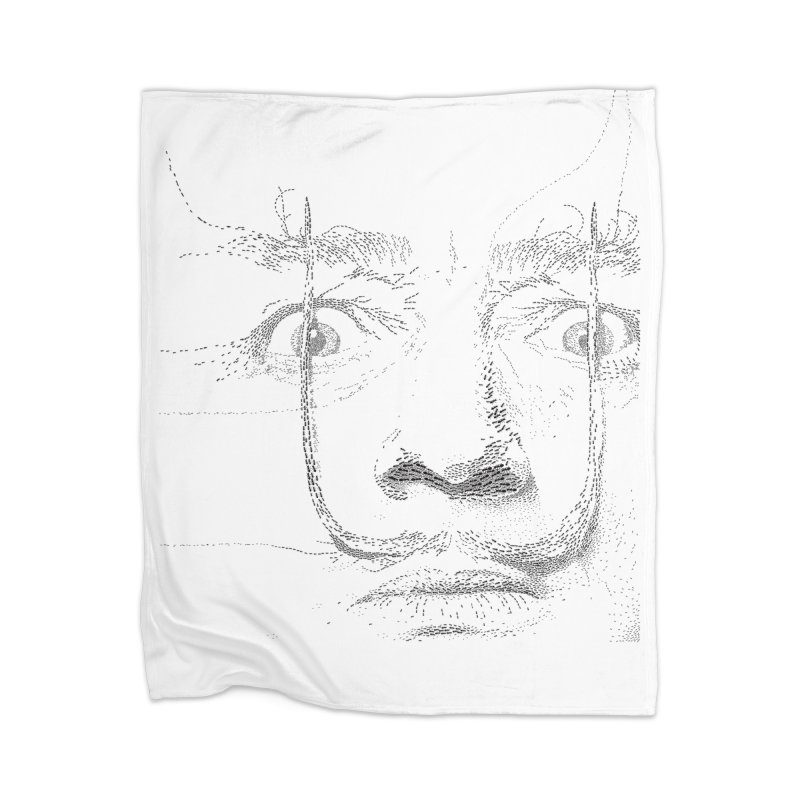 i am not mad! - salvador dali Home Blanket by the twisted world of godriguezart
